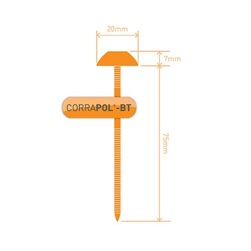 Corrapol-BT Corrapol-BT Brown Corrugated Bitumen Fixings 100Pk Image 3