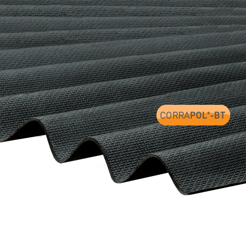 Corrapol-BT Corrapol-BT Black Corrugated Bitumen Sheet 930 X 2000mm