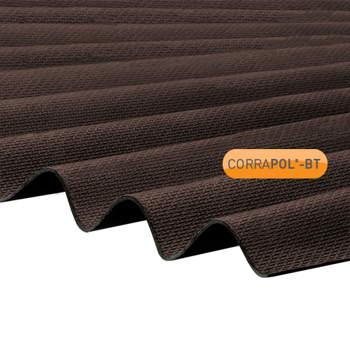 Corrapol-BT Corrapol-BT Brown Corrugated Bitumen Sheet 930 X 2000mm