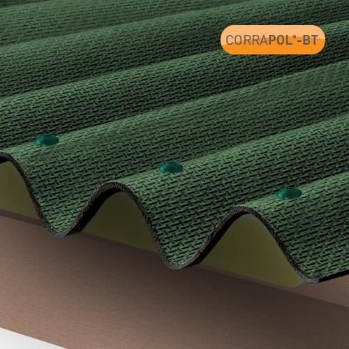 Corrapol-BT Corrapol-BT Green Corrugated Bitumen Sheet 930 X 2000mm Image 2