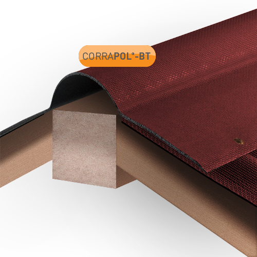 Corrapol-BT Corrapol-BT Red Corrugated Bitumen Ridge 930mm Image 2