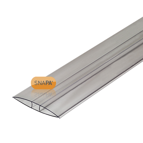 Snapa 10mm Clear Polycarbonate H Section 2m