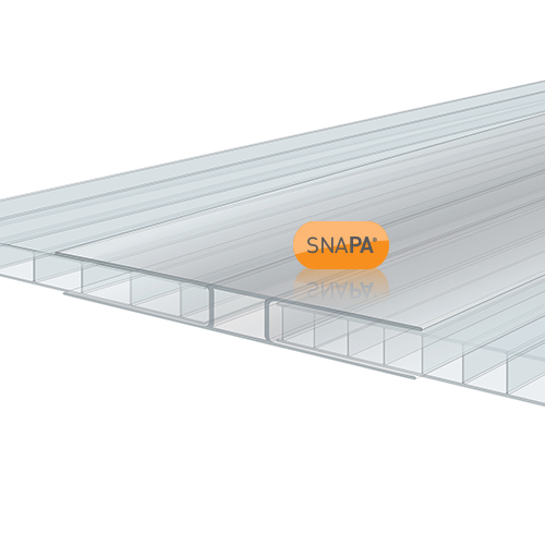 Snapa 10mm Clear Polycarbonate H Section 2m Image 2