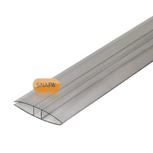 Snapa 16mm Clear Polycarbonate H section 2m