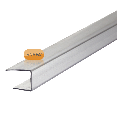 Snapa 10mm Clear Polycarbonate C Section 3m