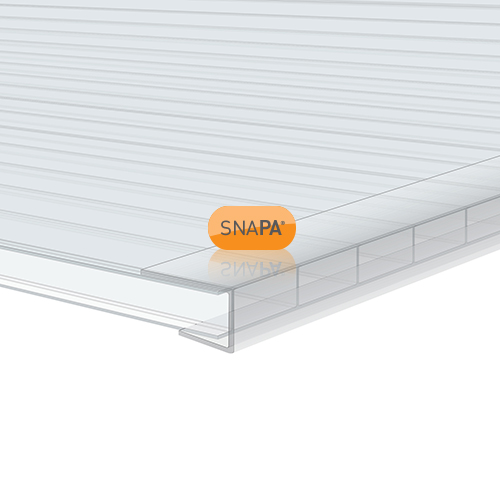 Snapa 10mm Clear Polycarbonate C Section 3m Image 2