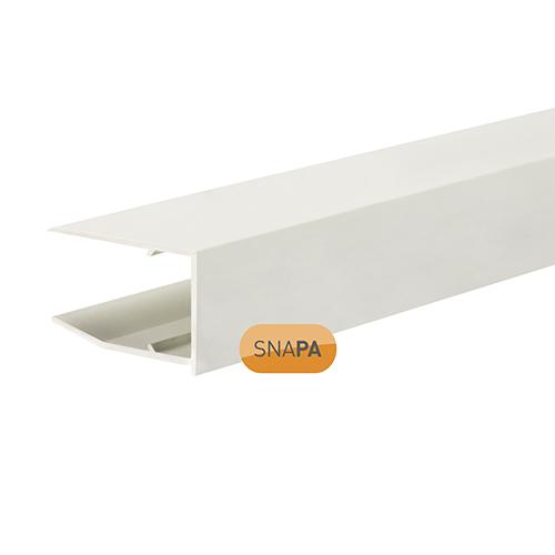 Snapa 16mm PVC Drip Trim White 2.1m