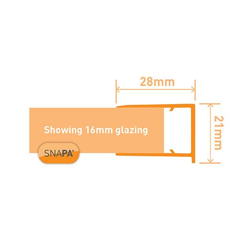 Snapa 16mm PVC Drip Trim White 2.1m Image 3