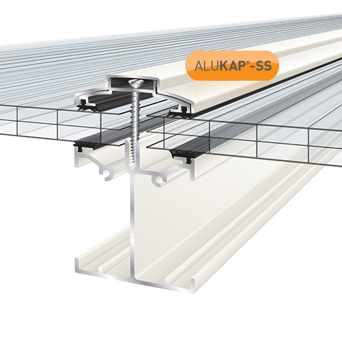 Alukap-SS Low Profile Bar 6.0m White Image 2