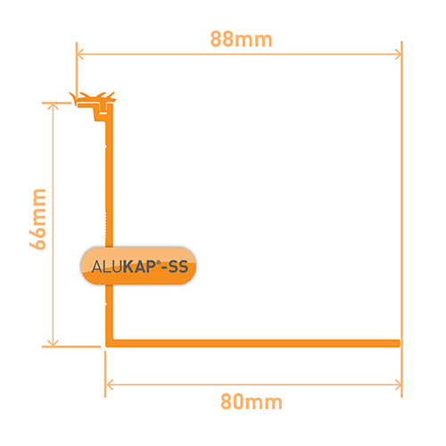 Alukap-SS Low Profile Cap 3.0m White Image 3