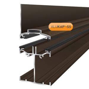 Alukap-SS Low Profile Wall Bar 4.8m Brown