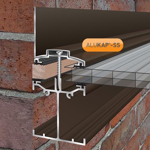Alukap-SS Low Profile Wall Bar 4.8m Brown Image 2