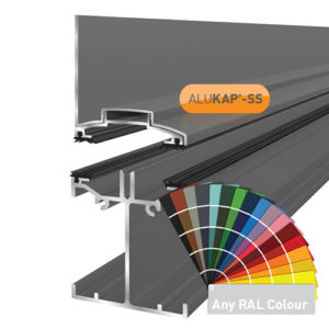 Alukap-SS Low Profile Wall Bar 4.8m PC