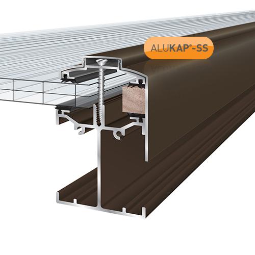 Alukap-SS Low Profile Gable Bar 4.8m Brown Image 2