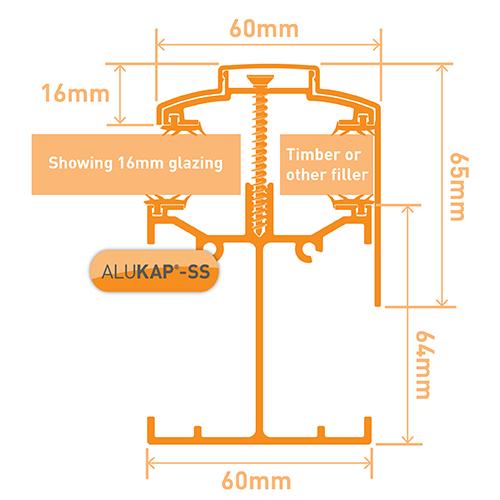 Alukap-SS Low Profile Gable Bar 4.8m Brown Image 3