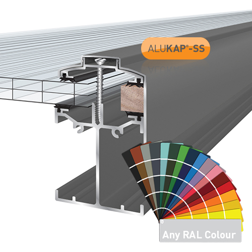 Alukap-SS Low Profile Gable Bar 6.0m PC Image 2