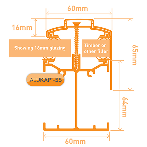 Alukap-SS Low Profile Gable Bar 6.0m PC Image 3