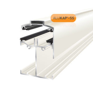 Alukap-SS Low Profile Gable Bar 6.0m White