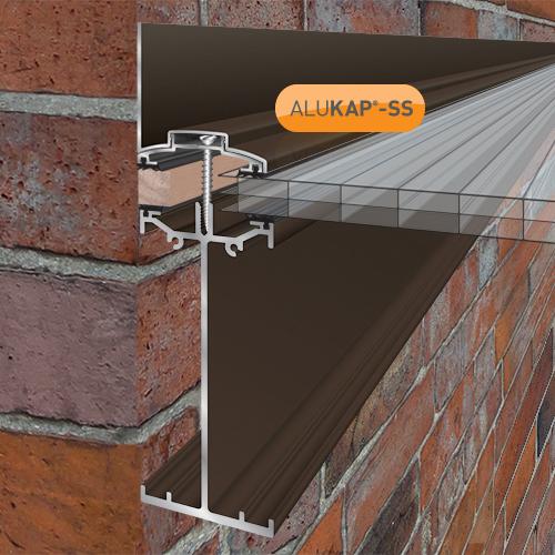 Alukap-SS High Span Wall Bar 4.8m Brown Image 2