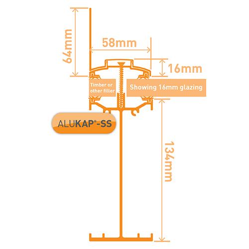 Alukap-SS High Span Wall Bar 6.0m PC Image 3