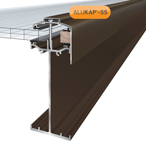 Alukap-SS High Span Gable Bar 4.8m Brown Image 2