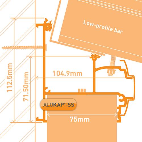 Alukap-SS Wall & Eaves Beam 3.0m PC Image 3