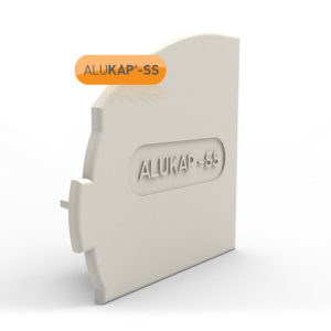 Alukap-SS Wall & Eaves Beam Endcap LH White