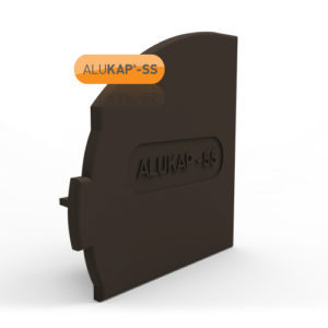 Alukap-SS Wall & Eaves Beam Endcap RH Brown