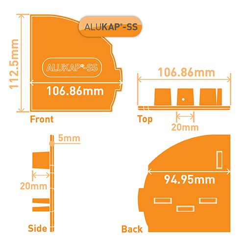 Alukap-SS Wall & Eaves Beam Endcap RH Brown Image 3