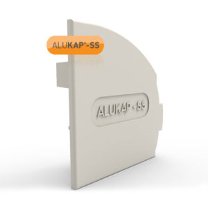 Alukap-SS Wall & Eaves Beam Endcap RH White