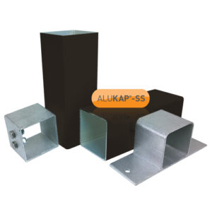 Alukap-SS Complete post & bracket kit 3000mm Brown