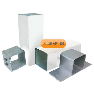 Alukap-SS Complete post & bracket kit 3000mm White