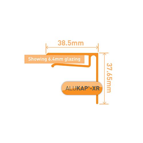 Alukap-XR 6.4mm End Stop Bar 4.8m Brown Image 3