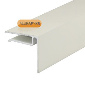 Alukap-XR 6.4mm End Stop Bar 4.8m White