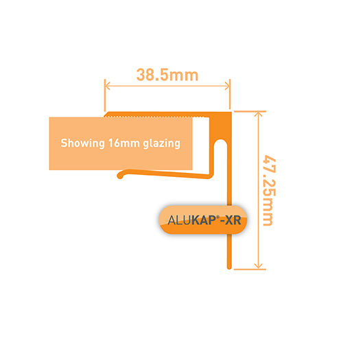 Alukap-XR 16mmEnd Stop Bar 3.6m Brown Image 3
