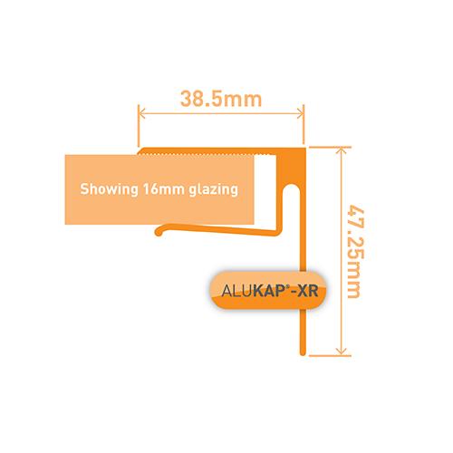 Alukap-XR 16mm End Stop Bar 3.6m PC Image 3