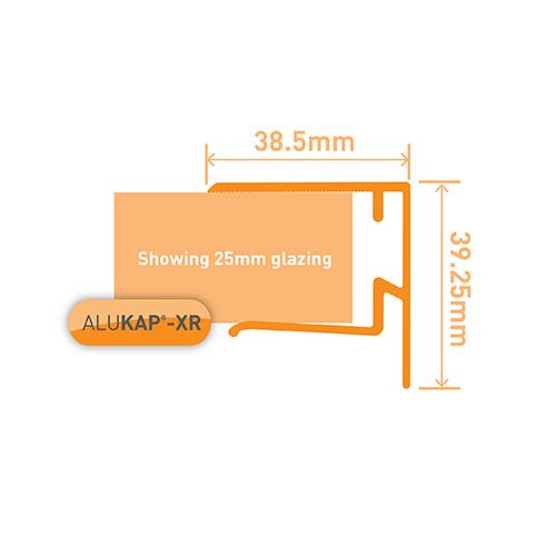 Alukap-XR 25mm End Stop Bar 3.6m Brown Image 3