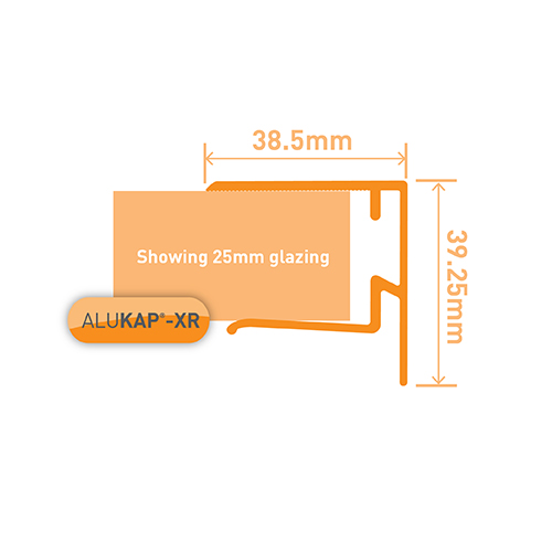 Alukap-XR 25mm End Stop Bar 3.6m PC Image 3