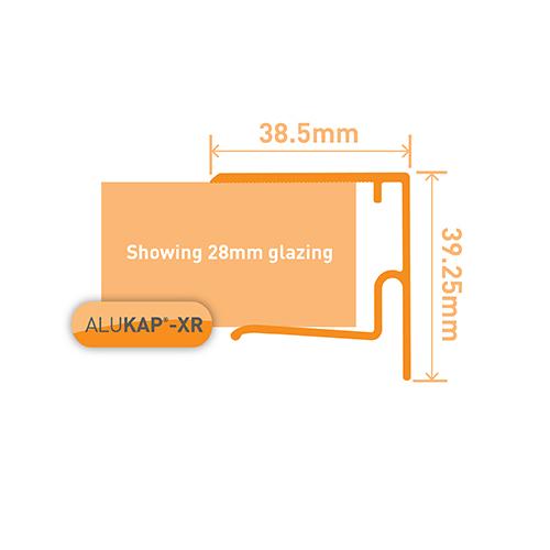 Alukap-XR 28mm End Stop Bar 4.8m White Image 3