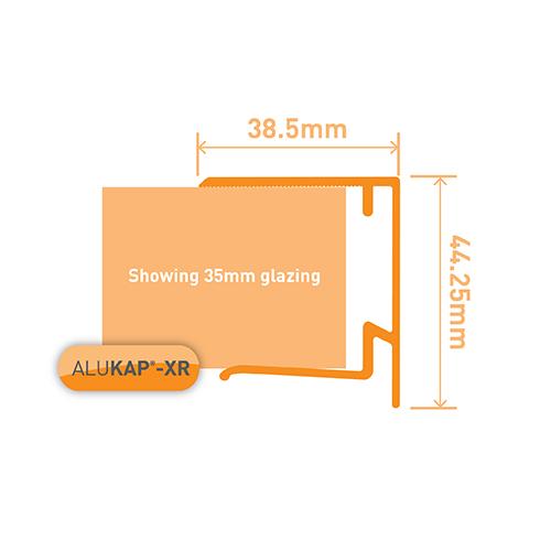 Alukap-XR 35mm End Stop Bar 4.8m Brown Image 3