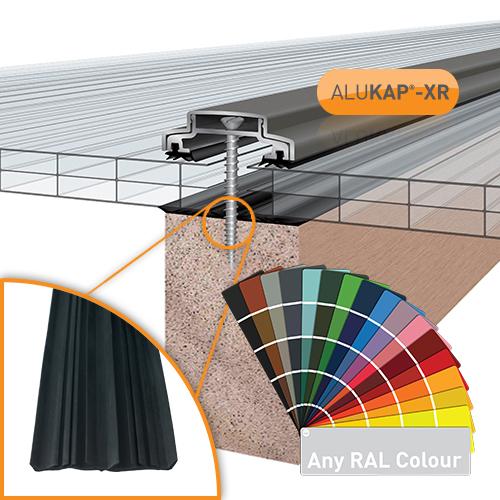 Alukap-XR 45mm Bar 6.0m 45mm RG PC Alu E/Cap Image 2