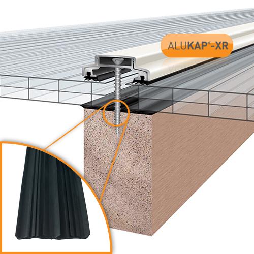 Alukap-XR 45mm Bar 6.0m 45mm RG WH Alu E/Cap Image 2
