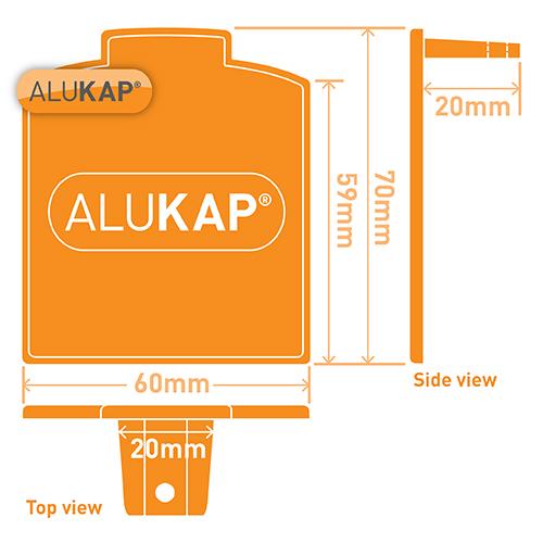 Alukap-XR Additional Bar Endcap Each WH Image 3
