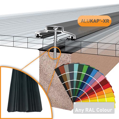 Alukap-XR 60mm Bar 6.0m 45mm RG PC Alu E/Cap Image 2