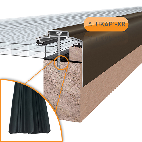 Alukap-XR 60mm Gable Bar 3.6m 45mm RG BR Alu E/Cap Image 2
