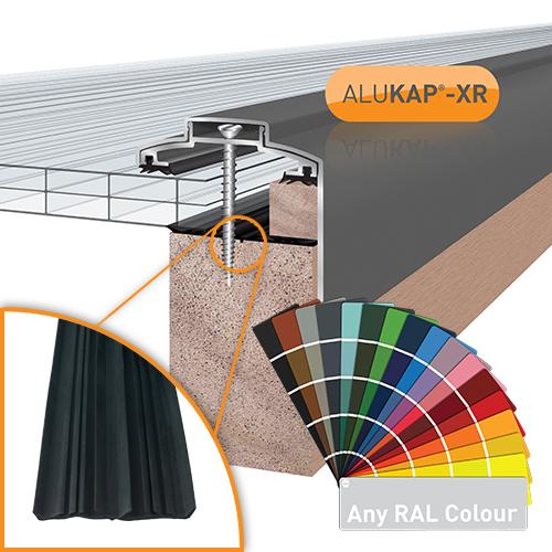 Alukap-XR 60mm Gable Bar 4.8m 45mm RG PC Alu E/Cap Image 2