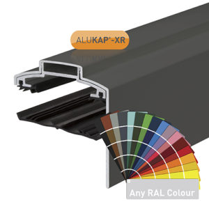 Alukap-XR 60mm Gable Bar 6.0m 45mm RG PC Alu E/Cap
