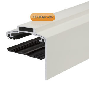 Alukap-XR 60mm Gable Bar 6.0m 45mm RG WH Alu E/Cap