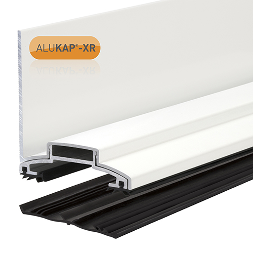 Alukap-XR 60mm Wall Bar 3.6m 45mm RG WH Alu E/Cap
