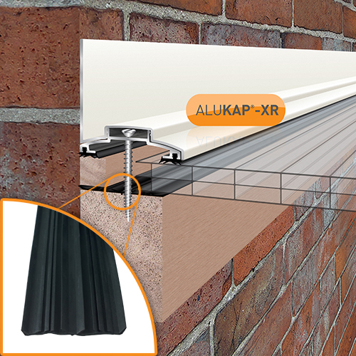Alukap-XR 60mm Wall Bar 3.6m 45mm RG WH Alu E/Cap Image 2